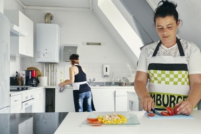cuisine pédagogique du centre de formation CLPS à Fougères pour les formations aux métiers de l'aide à la personne