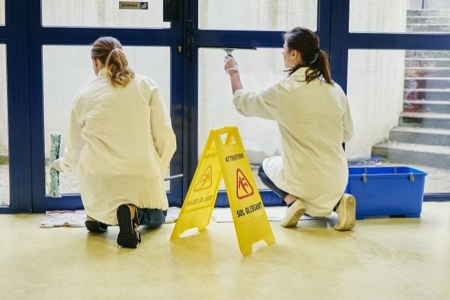 atelier propreté au centre de formation CLPS à Lorient