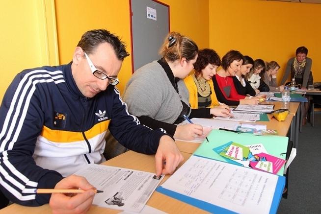 séance de formation aux compétences clés au centre de formation CLPS à Redon