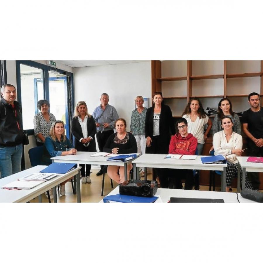 stagiaires du dispositif PRÉPA Avenir FLE à Lorient