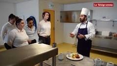 Un chef étoilé partage son expérience avec les stagiaires restauration du CLPS à Brest