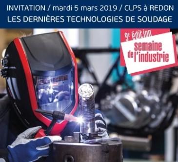 invitation à la journée technique au CLPS à Redon : dernières technologies de soudage