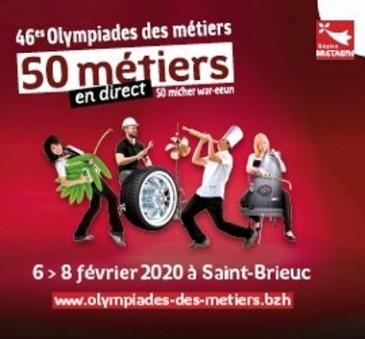 Affiche des Olympiades des métiers 2020 à St-Brieuc