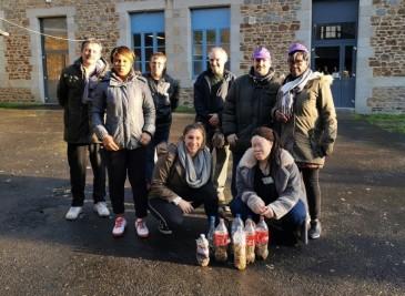 Les stagiaires Prépa avenir ont ramassés 7200 mégots à Fougères.