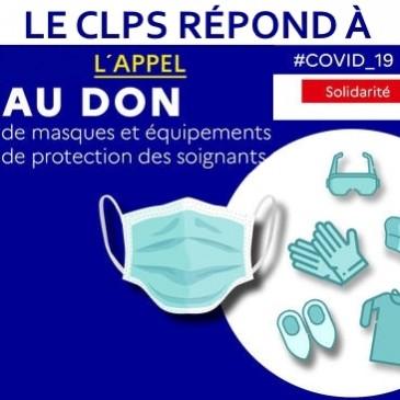 Le CLPS répond à l'appel au don de masques pour lutter contre l'épidémie de cioronavirus