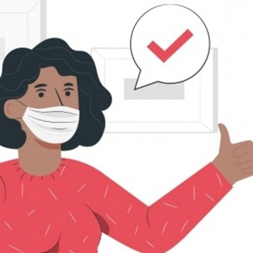 illustration du port du masque obligatoire dans les centres de formation CLPS