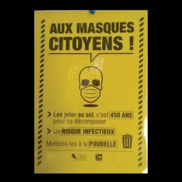 Affiche masques Prépa Avenir Adultes Vannes