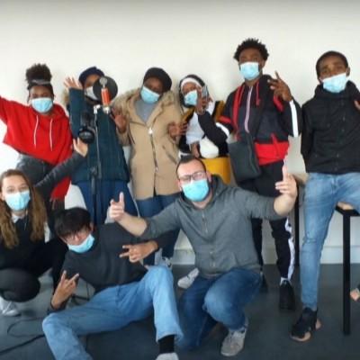 Les jeunes en Prépa Avenir jeunes au CLPS à Rennes ont créé un clip musical