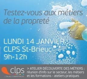 atelier découverte des métiers de la propreté au CLPS à Saint-Brieuc