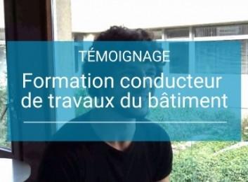 Vidéo de témoignage sur la formation conducteur de travaux au CLPS à Rennes